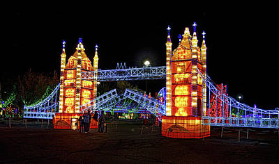 Photograph - Lights Of The World London Bridge by C H Apperson