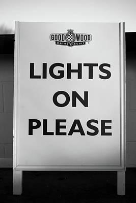 Photograph - Lights On Please by Robert Phelan
