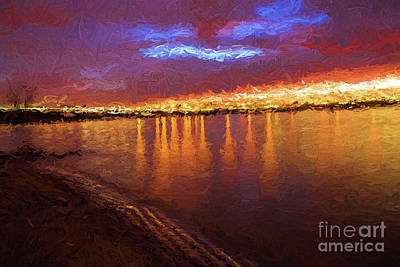 Painting - Lights On The Lake by Steven Parker
