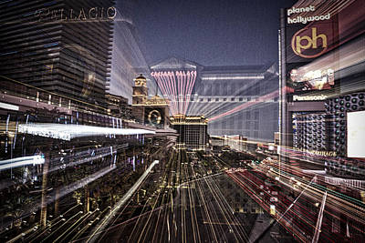 Photograph - Lights On The Las Vegas Strip by Stuart Litoff