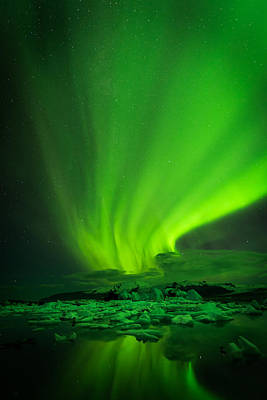 Photograph - Lights Over Jokulsarlon by Chris McKenna