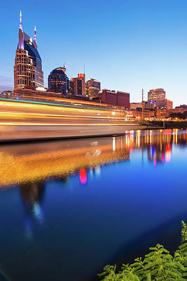Photograph - Lights Through The Nashville Skyline by Gregory Ballos