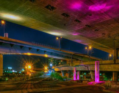 Photograph - Lights Under The Bridge 023 by Jeff Stallard