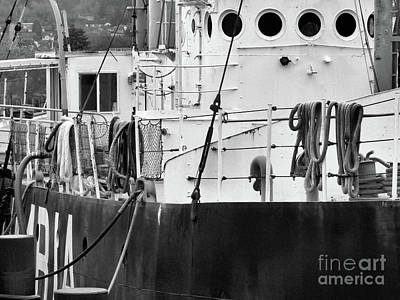 Photograph - Lightship Columbia-details by Scott Cameron