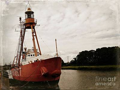 Photograph - Lightship Nantucket Wlv-613 At Wareham by Lita Kelley