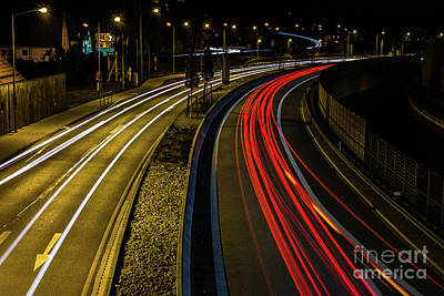 Photograph - Lightstreams In Schwaebisch Gmuend by Benjamin Wiedmann