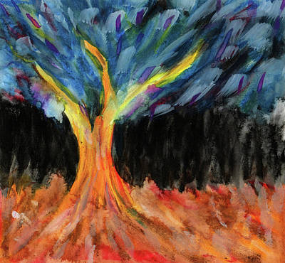 Mixed Media - Lignum Abstracta - Tree In Abstract by R Kyllo