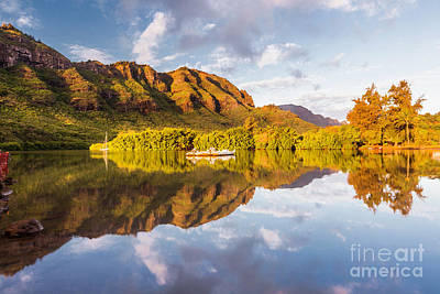 Airplane Paintings - Lihue Harbor serenity by Daryl L Hunter