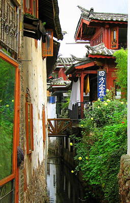 Photograph - Lijiang Back Canal by Carla Parris
