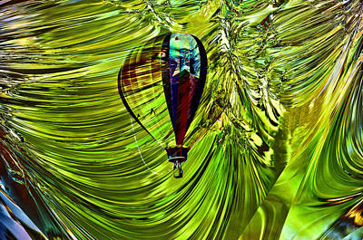 Arial Photograph - Like A Balloon Behind The Curtains by Jeff Swan