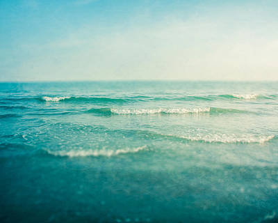 Seascape. Wave Photograph - Like A Dream by Violet Gray
