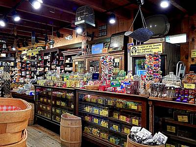 Vintage Conway Photograph - Like A Kid In A Candy Store by Karen Cook