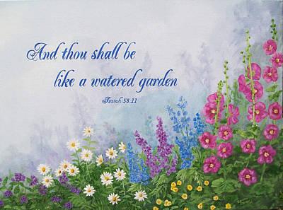 Like A Watered Garden Art Print by Sandra Poirier