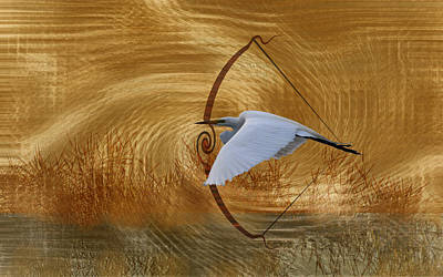 Photograph - Like An Arrow - Great Egret by rd Erickson
