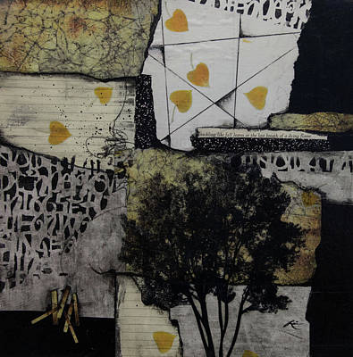 Mixed Media - Like Falling Leaves by Laura Lein-Svencner