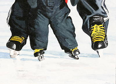 Sports Paintings - Like Father Like Son by Betty-Anne McDonald