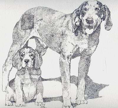 Like Father Like Son Art Print by Debra Sandstrom