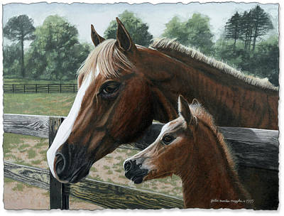 Peter Muzyka Wall Art - Painting - Like Father Like Son by Peter Muzyka