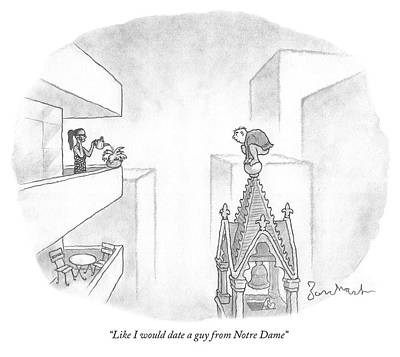 Dating Drawing - Like I Would Date A Guy From Notre Dame by David Borchart