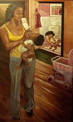 Like Mommy Art Print by Amira Najah Whitfield