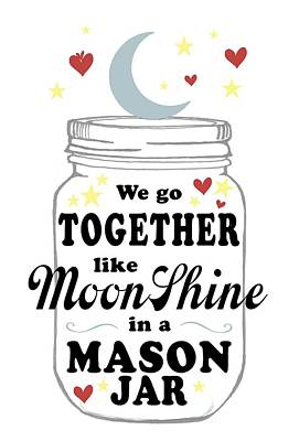 Digital Art - Like Moonshine In A Mason Jar by Heather Applegate