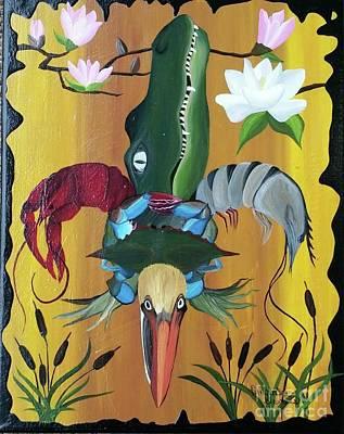 Fleur De Lis Painting - Like No Other by Amanda Gervais