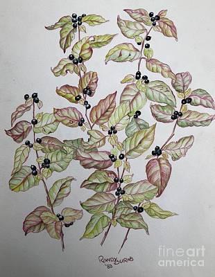 Painting - Like Shiny Black Pearls by Randol Burns