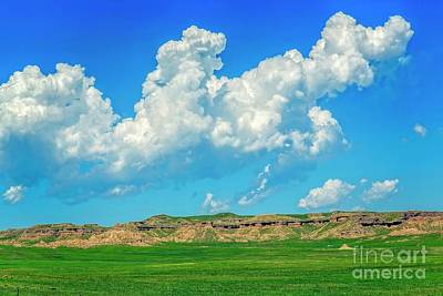 Photograph - Summer Clouds Over Green Fields by Jon Burch Photography