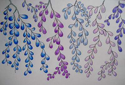 Drawing - Like Wisteria by Megan Walsh