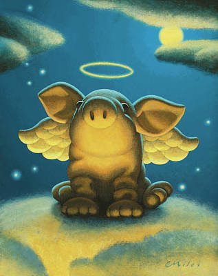 Wall Art - Painting - Lil' Angel by Chris Miles