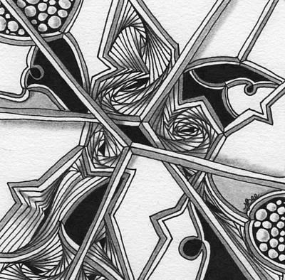 Drawing - Li'l Birdies by Jan Steinle