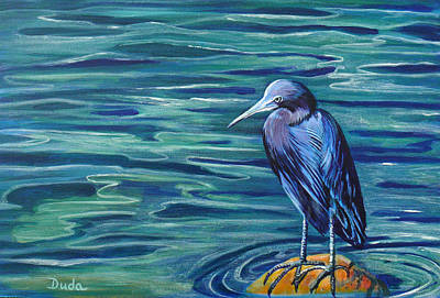 Little Master Painting - Lil Blue by Susan Duda