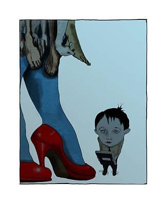 Kali Digital Art - Lil Boy Meets The Goddess Kali by Edward Corpus