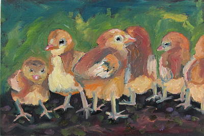 Painting - Lil' Chicks by Susan  Spohn