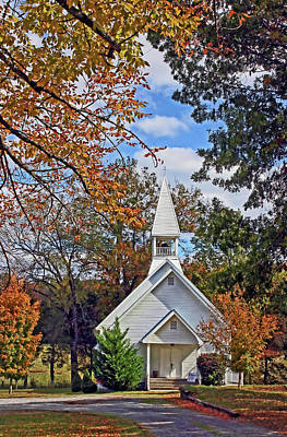 Photograph - Lil Country Church by HH Photography of Florida