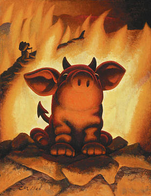 Wall Art - Painting - Lil' Devil by Chris Miles