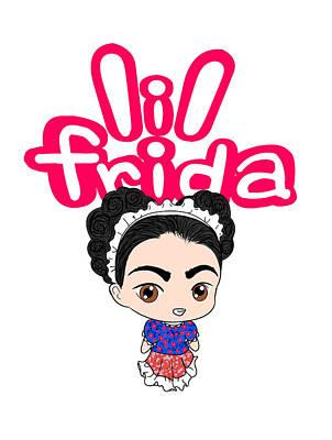 Frida Drawing - Lil Frida Logo by Rene Lopez