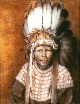 Painting - Lil Indian by Cecill Woods