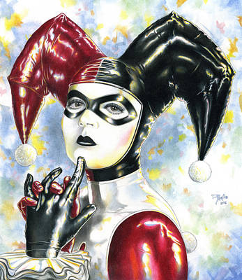 Harley Quinn Drawing - Lil Miss Homicidal by Paul Petro