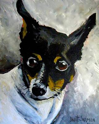 Painting - Lil Rat Terrier by Jeanette Jarmon