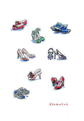 Painting - L'il Shoes by Diane Thornton