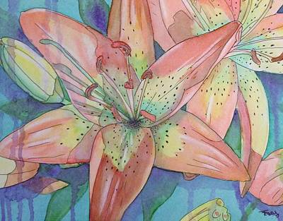 Tiger Lily Mixed Media - Lil by Tracy Anthony