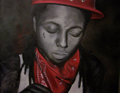 Weezy F. Baby Painting - Lil Wayne by Morgan Baudoin