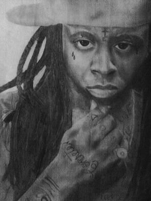 Weezy F. Baby Drawing - Lil Wayne by Tessa Williams