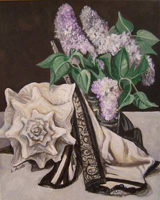 Painting - Lilac And Lingerie by Laura Aceto