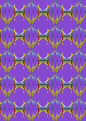 Digital Art - Lilac And Olive Mules by Deborah Runham