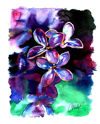 Painting - Lilac Blossom by Christy Freeman Stark