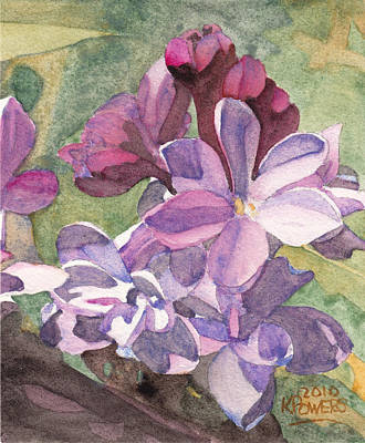 Painting - Lilac Blossom by Ken Powers