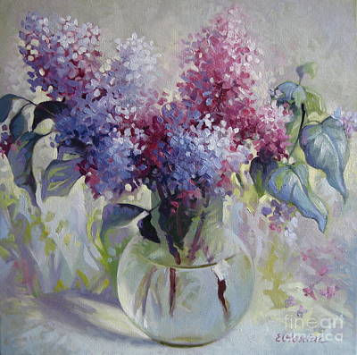 Painting - Lilac Bouquet by Elena Oleniuc