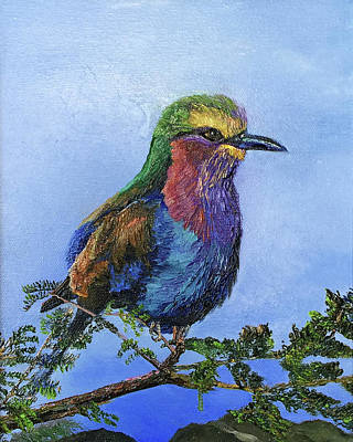 Painting - Lilac Breasted Roller by Terry R MacDonald